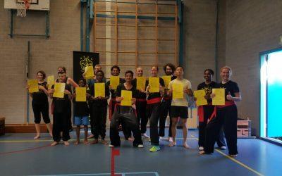 Eerste examen voor kung fu groep Den Bosch