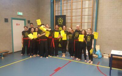 Kung fu Den Bosch succesvol examen afgelegd!